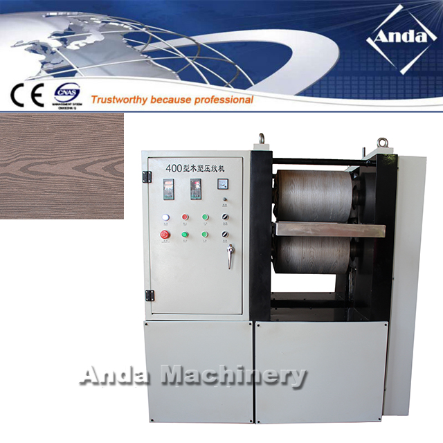 Germany customer bought WPC embossing machine from Anda machinery