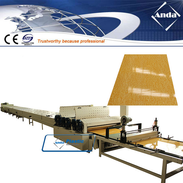 three rollers UV coating machine for PVC marble board