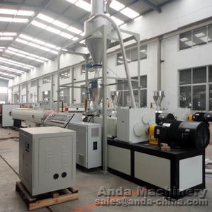 PVC draining pipe extrusion line