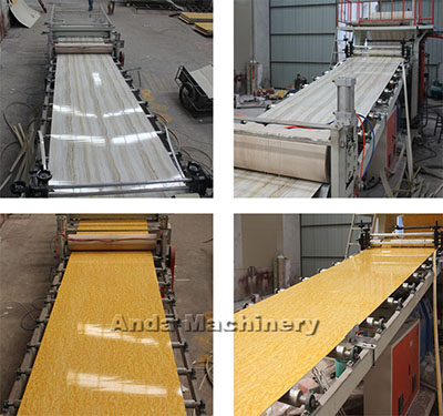 PVC marble sheet manufacturing process