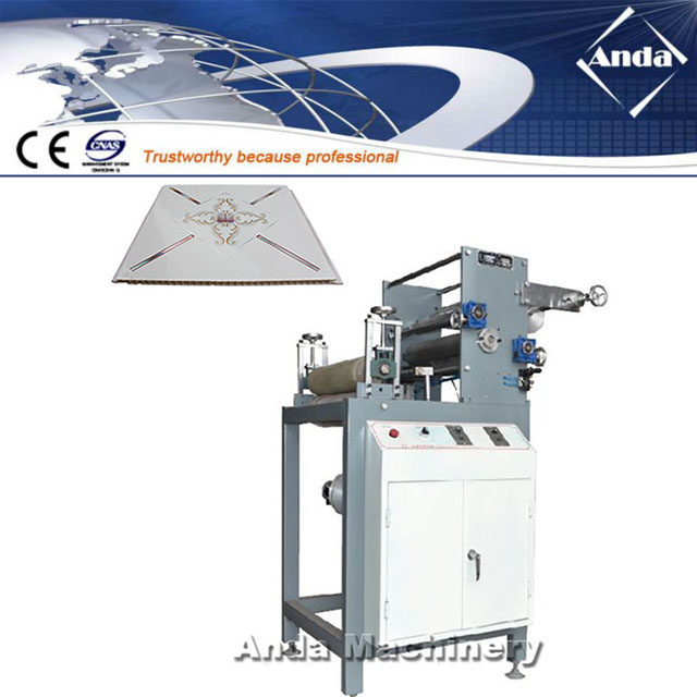 kyrgyzstan customer bought PVC ceiling transfer printing machine from Anda machinery