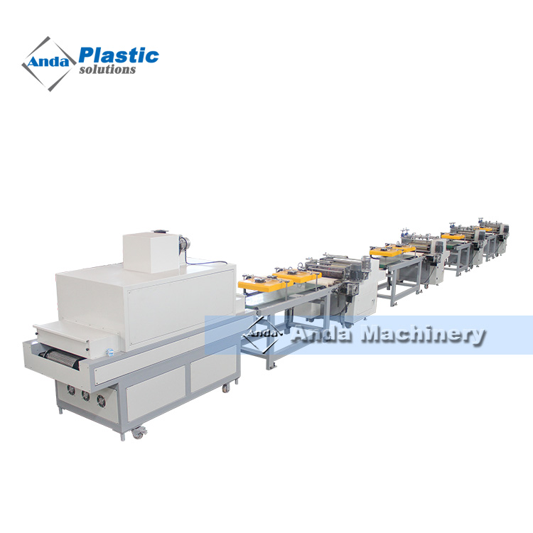 three and four color Printing machine for PVC edge band
