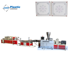 600 by 600 PVC ceiling tile production line with online hot stamping machine
