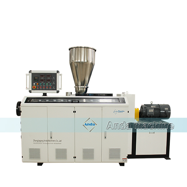 double out PVC pipe extruder machine