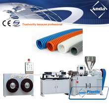 PE PP single wall corrugated pipe machine / extruder