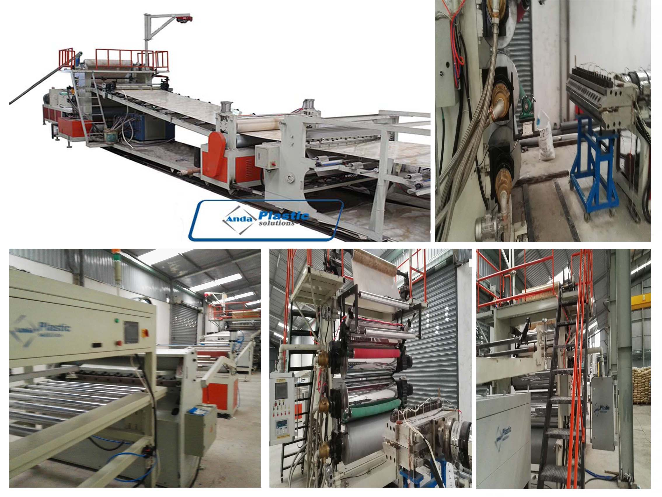 congratulation to the pvc marble sheet production line running successfully in our client factory Vietnam