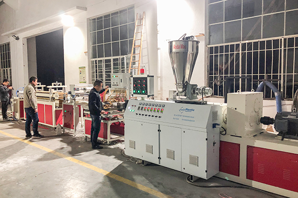 PVC Ceiling Production Line Tested Smoothly Before Delivery To Algeria